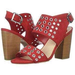 Fergalicious Jolene Red Grommet Sandal